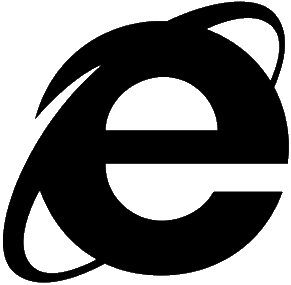 image showing the logo of Internet Explorer